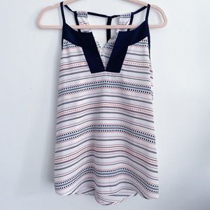 Athleta striped tank top with back tie